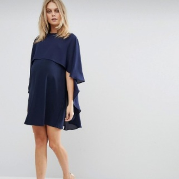 df84209d220cd ASOS Maternity Dresses | Queen B Navy Shift With Cape Nwt | Poshmark